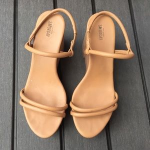 KATE SPADE Saturday Size 7.5 Strappy Wedge Sandals